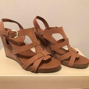 Franco Sarto Tan Wedge Sandal